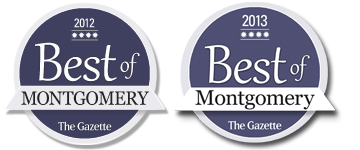 Best Of Montgomery Repeat Winner Two Years Running - 2013 & 2012 - both winner logos