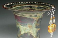 Pottery Earring Vases