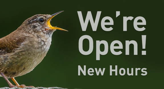 The Backyard Naturalist store is now opened! We have new business hours.