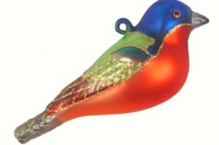 Hand Painted Glass Wild Bird Ornaments