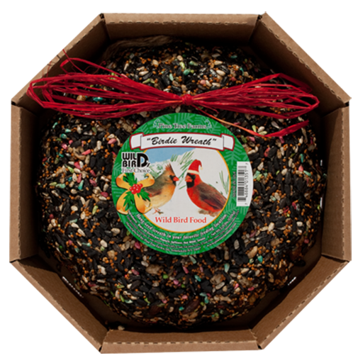 The Backyard Naturalist has Wild Bird Food Holiday Wreaths, Ornaments and Garlands in stock, including the Birdie Holiday Wreath. Good nutrition and good looking!
