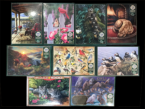 The Backyard Naturalist has new jigsaw puzzles for the whole family, 1000 piece puzzles pictured here.