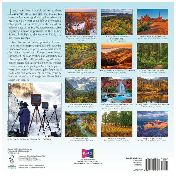 he 2021 Spirit of Place Wall Calendar is now in stock at The Backyard Naturalist.(back)