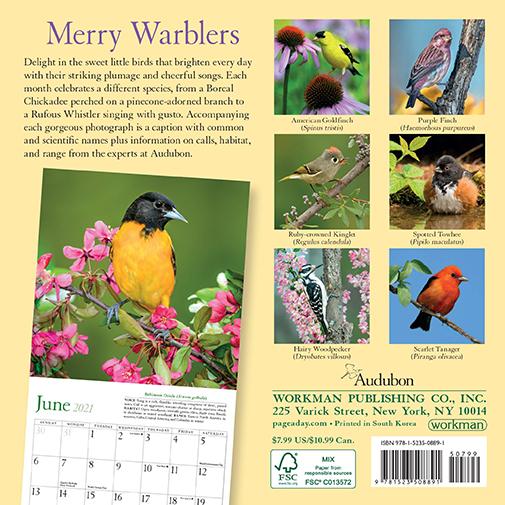 The Backyard Naturalist has Audubon 2021 Songbird calendars.