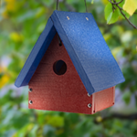The Backyard Naturalist has recycled material Bird Houses like this A-Frame Wren / Chickadee house, among others.