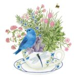 The Backyard Naturalist has Alice's Cottage new Spring 2021 Collection, including 'Bluebird and Dragonfly Teacup'