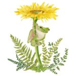 The Backyard Naturalist has Alice's Cottage new Spring 2021 Collection, including 'Frog and Dandelion'
