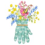 The Backyard Naturalist has Alice's Cottage new Spring 2021 Collection, including 'Gardening Glove'.