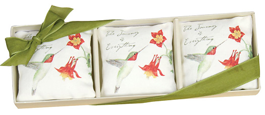 The Backyard Naturalist has Alices Cottage Lavender sachet sets in several designs. Made in Maryland!