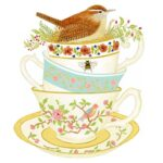 The Backyard Naturalist has Alice's Cottage new Spring 2021 Collection, including 'Wren and Teacups'.