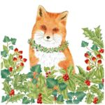 New design by Alice's Cottage for Holidays 2019 features a stunning Red Fox. Find him at The Backyard Naturalist in Olney, MD.
