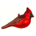The Backyard Naturalist has Cobane Glass BIrd Holiday Ornament, American Cardinal Male