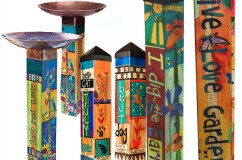 Art Poles, Bird Baths