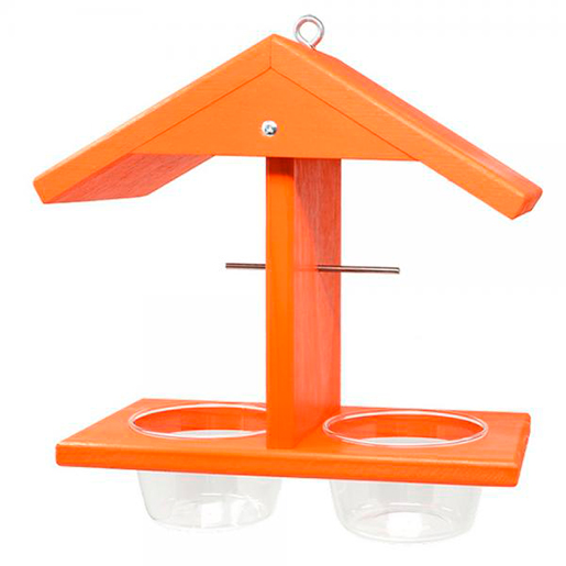 The Backyard Naturalist has Oriole feeders like this one, that serves berry fruit jelly and orange halves.