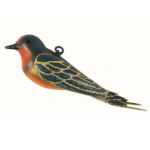 The Backyard Naturalist has Cobane Glass BIrd Holiday Ornament, Barn Swallow.