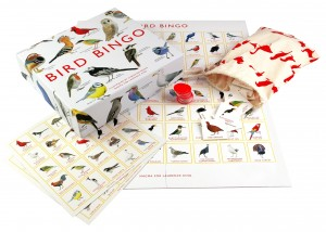 The Backyard Naturalist's favorite Bingo game for the whole family is 'Bird Bingo'. Includes beautifully illustrated game pieces showing 64 bird species, including: Robins, Puffins, Kookaburras, Fairy Wrens and more.