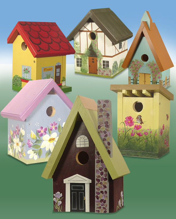 The backyard naturalist wild bird houses in a whimsical variety hand