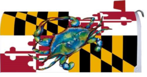 The Backyard Naturalist has Maryland themed decorative flags, door mats and mailbox wrappers.