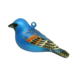 The Backyard Naturalist has Cobane Glass BIrd Holiday Ornament, Blue Grosbeak.