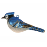 The Backyard Naturalist has Cobane Glass BIrd Holiday Ornament, Blue Jay