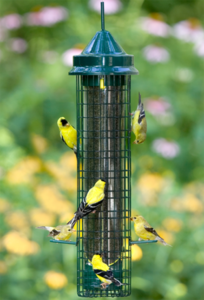 The Backyard Naturalist in Olney, MD stocks Squirrel-Proof feeders, including the Brome Bird Care Finch