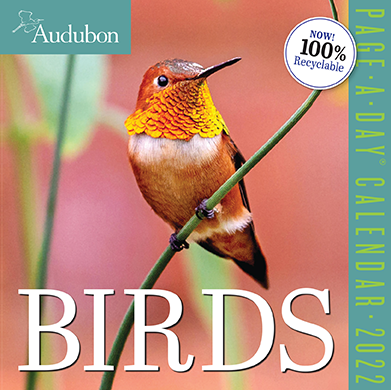 2022 Calendars are in stock at The Backyard Naturalist Store! Including the featured 'Audubon Page-A-Day Birds Calendar'.
