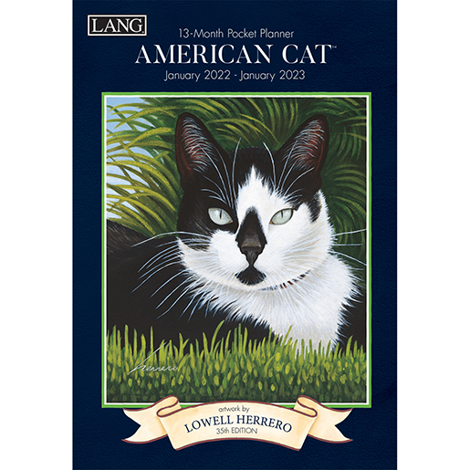 The Backyard Naturalist has the new 2022 Pocket Planner calendars in stock, including American Cat (front pictured).