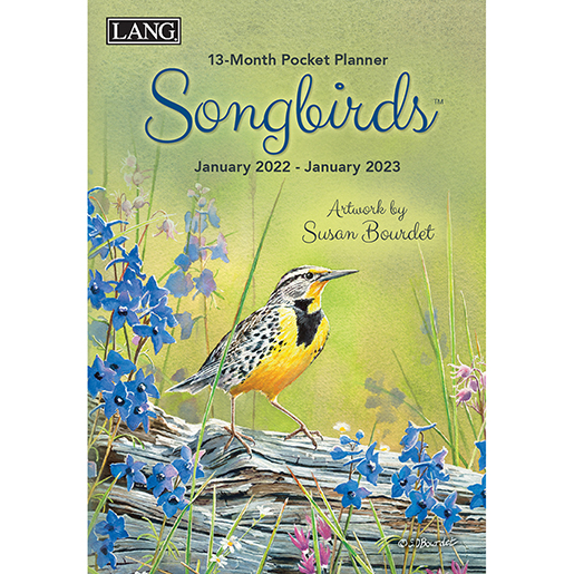 The Backyard Naturalist has the new 2022 Pocket Planner calendars in stock, including Songbirds (front pictured).