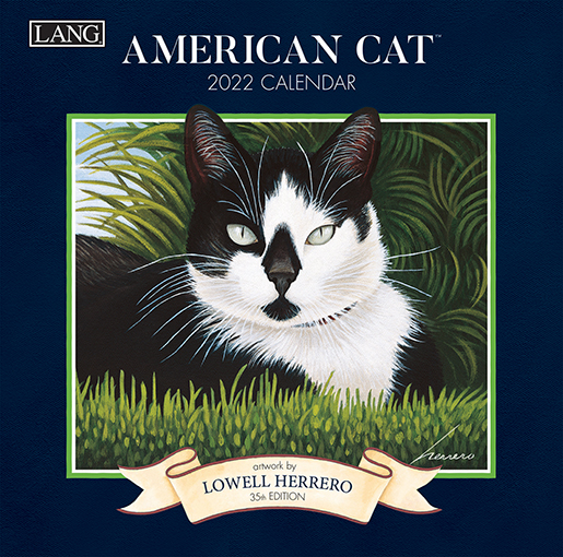 2022 Wall calendars are in at The Backyard Naturalist, including our favorite cat calendar: American Cat by Lang (front).