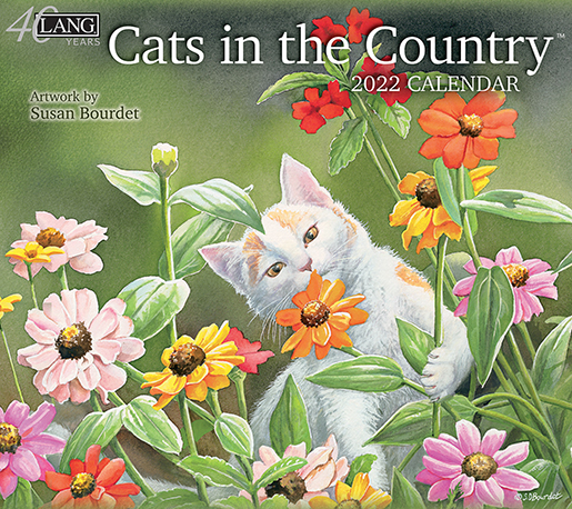 Lang's 2022 'Cats in the Country' wall calendar is here at The Backyard Naturalist! (front)