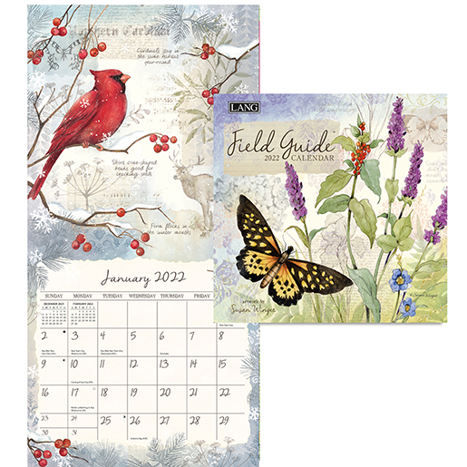 The 2022 'Field Guide' wall calendar by Lang is now here at The Backyard Naturalist! (inside)
