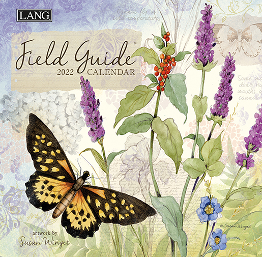 The 2022 'Field Guide' wall calendar by Lang is now here at The Backyard Naturalist! (front)