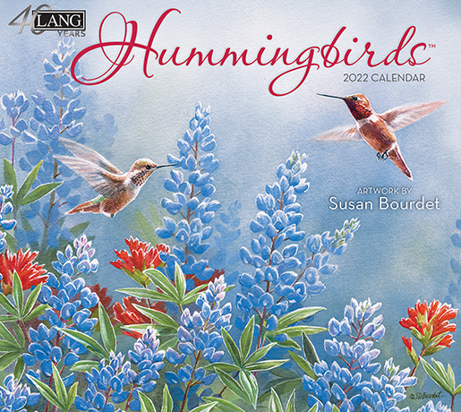 Hummingbirds wall calendar for 2022 is in stock NOW at The Backyard Naturalist Store in Olney, MD.