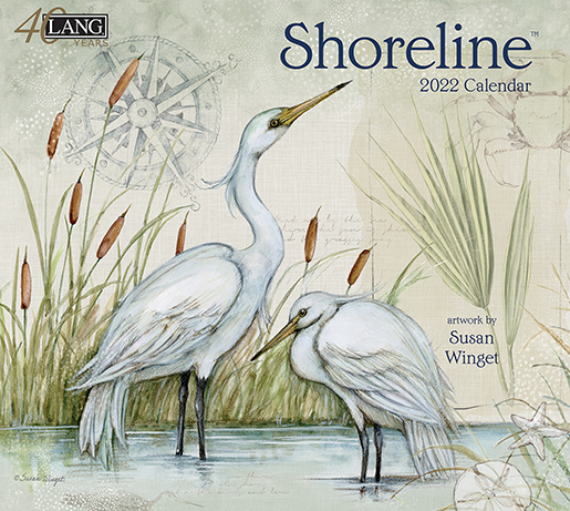 2022 Wall Calendar 'Shoreline' by Lang is in stock at The Backyard Naturalist store. (front)