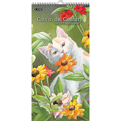 'Cats in the Country' 2022 tall wall calendar is here at The Backyard Naturalist! (front)