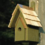 The Backyard Naturalist has many bird house styles available, like the Classic, in Pinion Green.