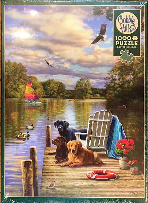The Backyard Naturalist stocks a wide selection of jigsaw puzzles, from 1000 piece Cobble Hill to wood block puzzles for toddlers. This is Cobble Hill's 'Dog Day Afternoon'.