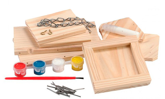 The Backyard Naturalist kit has everything you need to build and paint your own bird feeder.
