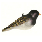 The Backyard Naturalist has Cobane Glass BIrd Holiday Ornament, Dark-eyed Junco