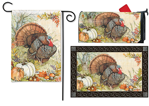 The Backyard Naturalist has the area's best selection of decorative yard flags, magnetic mailbox wraps and doormats in seasonal, holiday and nature themes, like this Thanksgiving Wild Turkey nature design.