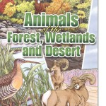 Animals of the Forest, Wetlands and Desert Coloring Book for Grown Ups, New at The Backyard Naturalist.