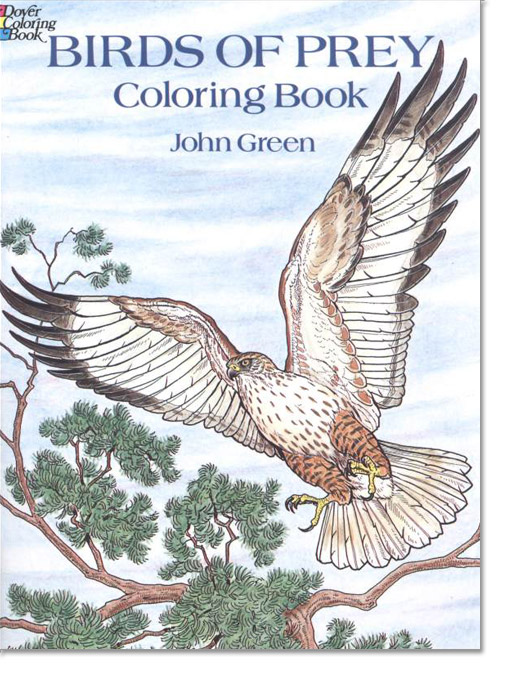 Grown up coloring books are here the backyard naturalist for Birds of prey coloring pages