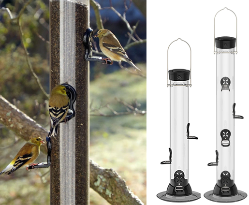 The Backyard Naturalist is a Platinum Feather dealer for Droll Yankees Feeders, including the Clever Cleans Series Nyjer (Thistle) Finch Feeders. Easy to fill and clean!
