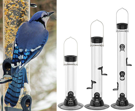 The Backyard Naturalist is a Platinum Feather dealer for Droll Yankees Feeders, including the Clever Cleans Series. Easy to fill and clean!