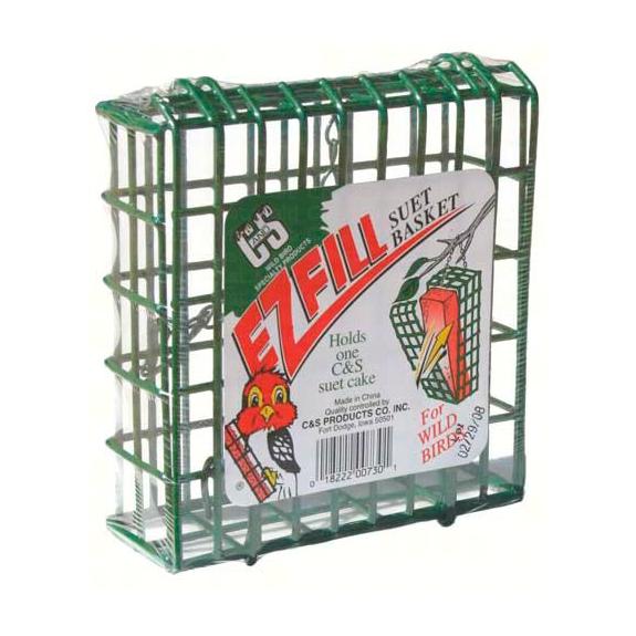 The Backyard Naturalist has the E-Z Fill Suet Basket in stock.