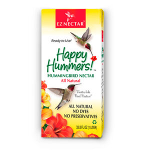 Ready-to-use Hummingbird Nectar, EZNectar is all natural, free of additives. One liter box.