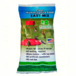 The Backyard Naturalist's Easy Mix Clear Hummingbird Food, in a convenient 8 oz. packet, makes 48 ounces of all natural Hummingbird nectar.