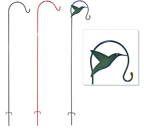 The Backyard Naturalist has accessories to help you hang your Hummingbird feeder. Poles are