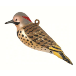 The Backyard Naturalist has Cobane Glass BIrd Holiday Ornament, Flicker