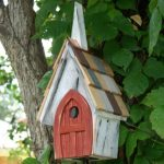 The Backyard Naturalist stocks biologically species correct bird houses in a variety of styles, including churches! The 'Flock of Ages' bird house resembles an old country church.